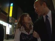 Horny redhead Erika Kitagawa pleases cocks of two horny guys