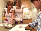 Hot MILF Haruka Sanada and friend are naughty Asian maids picture 10
