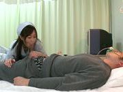 Nurse in fishnet stockings Sayuki Kanno makes tit fuck