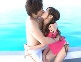 Rio Fujisaki Lovely Asian teen gets a fucking on the yacht