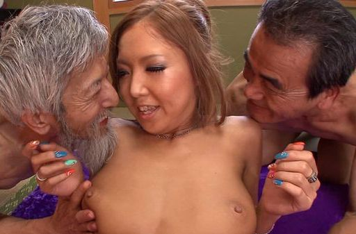 Milf Sena Hasegawa gets drilled by two horny males