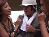 Hibiki Ohtsuki, Ayumu Sena lucky guy has horny Asian girls to fuck