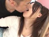 Sweet Japanese teen model Remon Aisu enjoys a facial cumshot picture 11