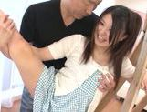 Sweet Japanese teen model Remon Aisu enjoys a facial cumshot picture 13