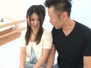 Sweet Japanese teen model Remon Aisu enjoys a facial cumshot
