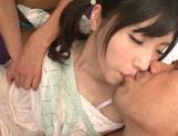 Teen with fancy pigtails Yuki Komiyama screwed by two guys picture 13