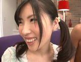 Teen with fancy pigtails Yuki Komiyama screwed by two guys picture 4