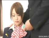 Akiho Yoshizawa Lovely Asian stewardess enjoys a hard fucking picture 2