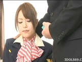 Akiho Yoshizawa Lovely Asian stewardess enjoys a hard fucking picture 3