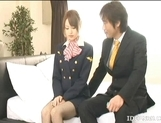 Akiho Yoshizawa Lovely Asian stewardess enjoys a hard fucking picture 4