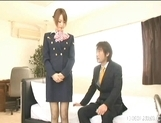 Akiho Yoshizawa Lovely Asian stewardess enjoys a hard fucking picture 5