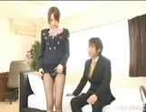 Akiho Yoshizawa Lovely Asian stewardess enjoys a hard fucking picture 6