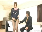 Akiho Yoshizawa Lovely Asian stewardess enjoys a hard fucking picture 7