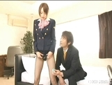 Akiho Yoshizawa Lovely Asian stewardess enjoys a hard fucking picture 8