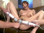 Hot milf all alone as she masturbatesasian pussy, horny asian, young asian}