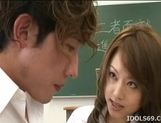 Akiho Yoshizawa Lovely Asian teacher likes getting fucked hard