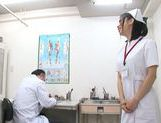 Voluptuous Asian nurse Yuuka Tsubasa gets her anal fucked by horny doc