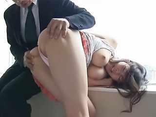 Busty sex doll Chihaya Yutsuka rides rod swallowing jizz