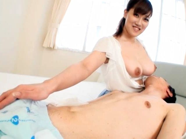 Rin Yunoki hot Asian milf exposes huge boobs for sex