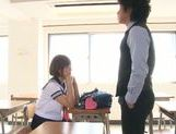 Busty schoolgirl Satou Haruka loves having sex in school picture 11