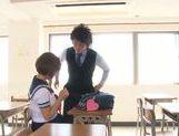 Busty schoolgirl Satou Haruka loves having sex in school picture 12