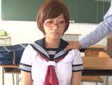 Busty schoolgirl Satou Haruka loves having sex in school picture 13
