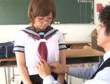 Busty schoolgirl Satou Haruka loves having sex in school picture 15
