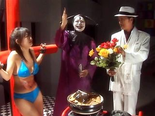 Maria Ozawa, Hitomi Kitamura, and Nene Hot Asian cosplay action