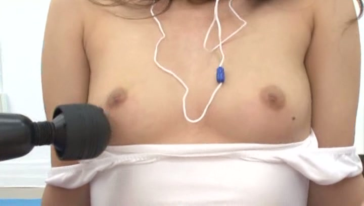 Lusty Japanese girls with tiny tits get experience of using vibrators