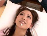 Delicious Japanese AV idol Yuki Kami is nailed in a doggystyle