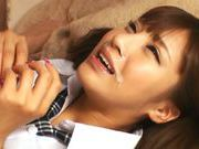 Sexy teen Anna Anjo makes handwork and gets a facialasian girls, young asian}