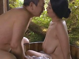 Busty Japanese wife sucks cock and fucks like crazy