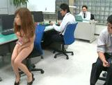 Naughty Asian Miyuki Yokoyama enjoys hardcore sex at work picture 3
