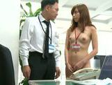 Naughty Asian Miyuki Yokoyama enjoys hardcore sex at work picture 9