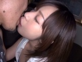 Gorgeous Japanese race queen Wakaba Onoue gives head rides boner picture 2