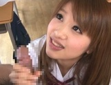 Busty Japanese teen angel Yui Hasebe enjoys every inch of cock picture 14