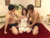 Frisky Japanese hussy Yuka Yamaguchi pleases two guys