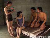 Gang bang princesses Saki and Miki experience hardcore anal intrusion