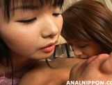 Saki and Miki Amazing Asian chicks enjoy anal sex picture 12
