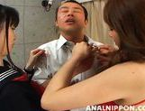 Saki and Miki Amazing Asian chicks enjoy anal sex