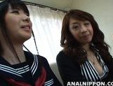 Crazy Asian babes Saki and Maki get anal creampies on Asian anal porn