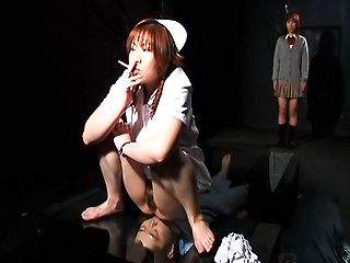 Cute Asian schoolgirl Riho Yu and Natsuki likes a finger in anal hole