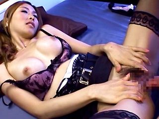 Hot Asian model Akari Asahina gets deep fucked