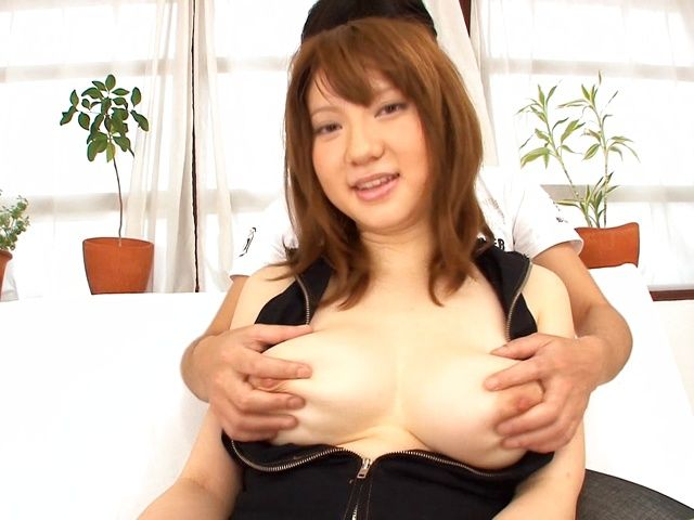 Busty Japanese beauty Alice Ozawa gets cum load on boobs