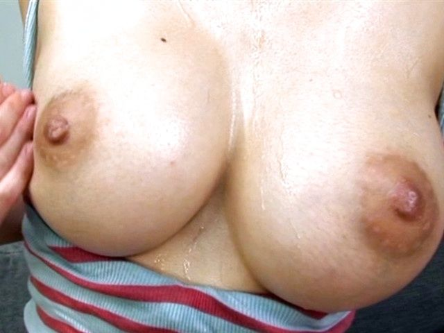 Hot milf chick Kaede Niiyama tit squeezing and cum on tits