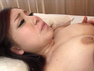 Busty Akane Mizusaki gets fucked from behind