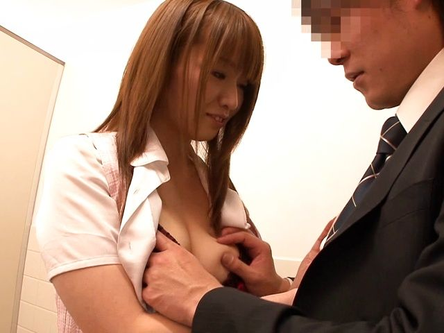 Busty Hana Nonoka enjoys hard sex at work