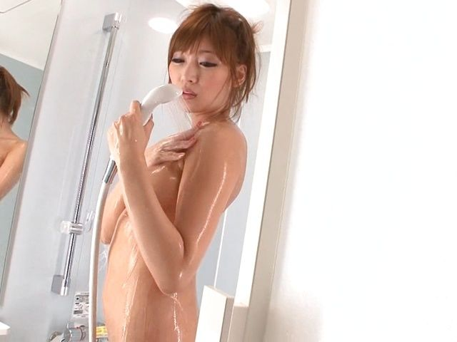 Busty japanese model Kirara Asuka gets wild in the shower