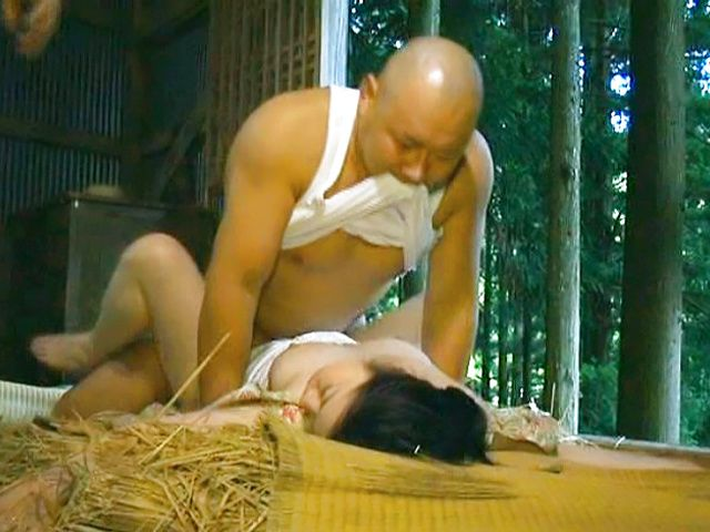Aroused mature Asian chick enjoys hot cocks