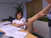 Yuki Ooe hot Asian office lady fucks her boss for a raise